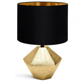 Lampe de Table a poser Ceramique Dorée E14 32 cm