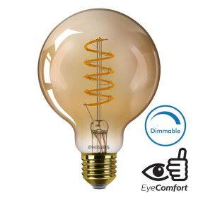 Ampoule LED E27 Globe filament 5.5W Ambrée Dimmable