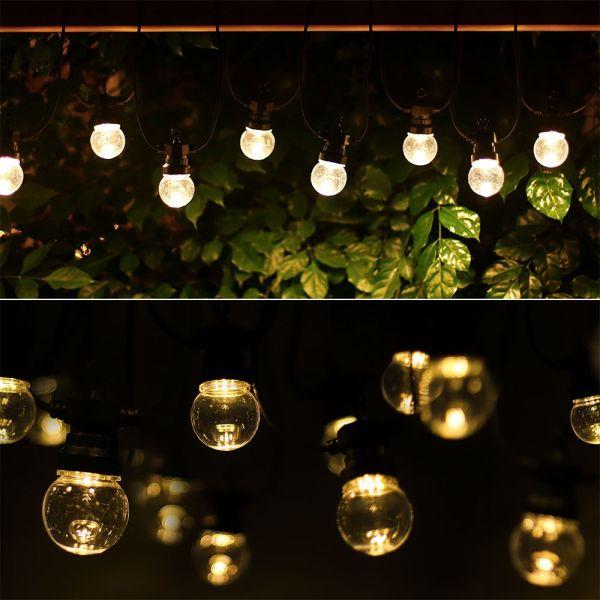 Guirlande guinguette 10 LED Blanc chaud 8 mètres