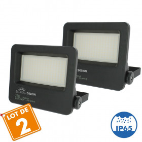 Lot de 2 Projecteurs LED Extérieur 50W Forte luminosité 4500 Lumens de IP65