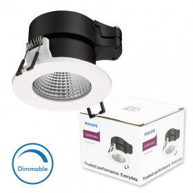 Spot LED Encastrable Blanc PHILIPS ClearAccent 6W Dimmable