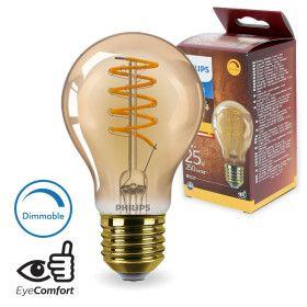 Ampoule LED E27 A60 filament 5.5W Ambrée Dimmable