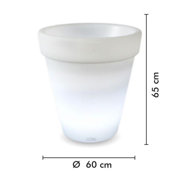 Pot de Fleurs Rechargeable Extérieur Ø60 cm