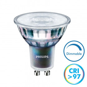 Ampoule LED GU10 Dimmable CRI97 5,5W 400 Lm Eq 50W MASTER