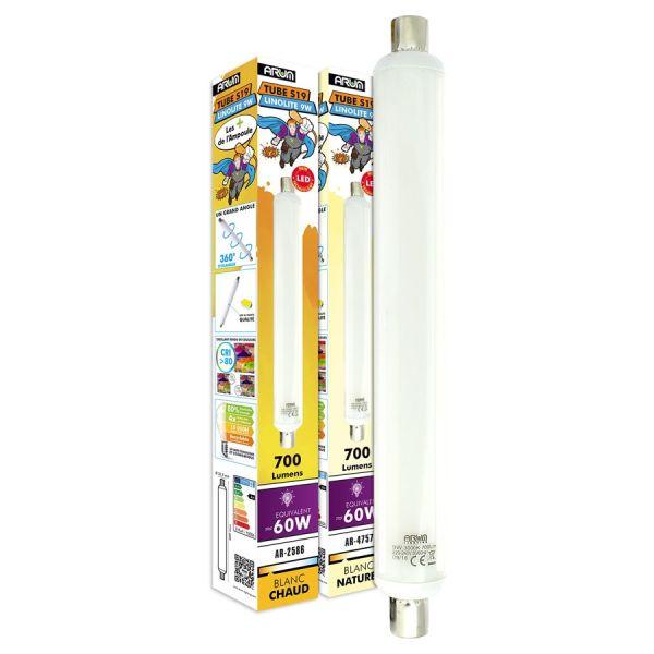 TUBE LINO LED S19 9W Blanc chaud