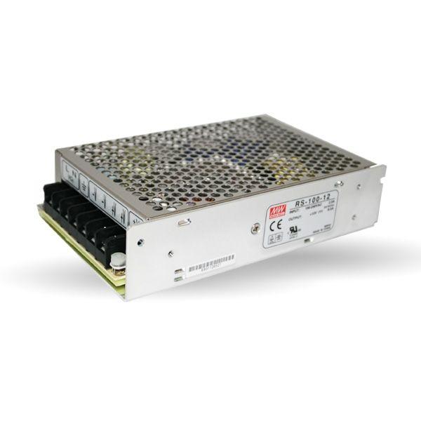 Trasformatore PRO MEANWELL 100W 12V