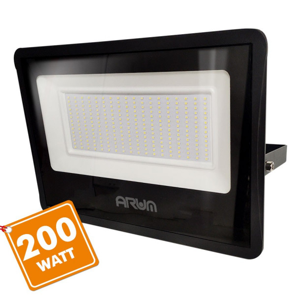 Projecteur LED ATRIA 200W NOIR 20 000 Lumens IP65 extérieur