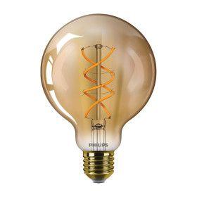 Ampoule LED E27 Globe filament 5W Ambrée 2000K