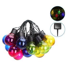 Guirlande solaire LED Multicolore de 20 ampoules 5,8M