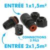Connecteur Étanche IP68 Noir 3 Fils