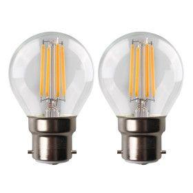 Lot de 2 Ampoules LED 4W B22 LED G45 Blanc chaud