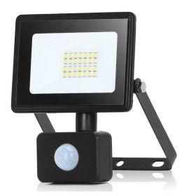 Projecteur LED 20W Noir détecteur de mouvement IP65