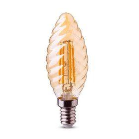 Ampoule LED E14 4W Twist C37T Blanc chaud ambrée
