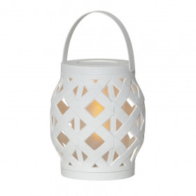 Lanterne Flame Blanc à piles avec Timer