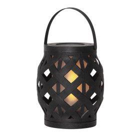 Lanterne Flame Noir à piles avec Timer