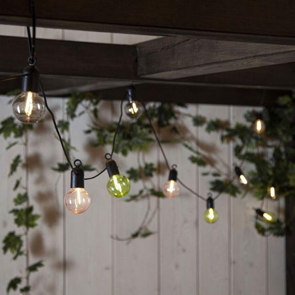 Guirlande 10 Ampoules Filaments sur piles 3,6 mètres
