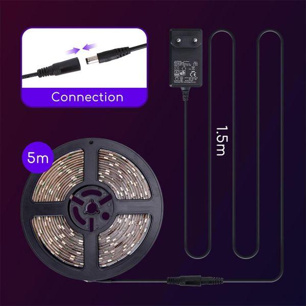 Ruban led 5 Mètres 30L/M 24W RVB IP65