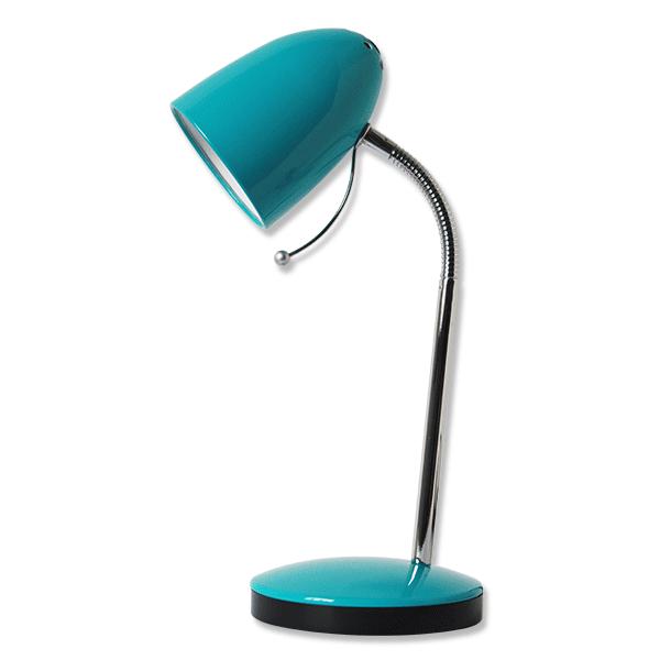 Lampada da scrivania blu
