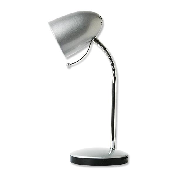 Lampada da scrivania colore argento