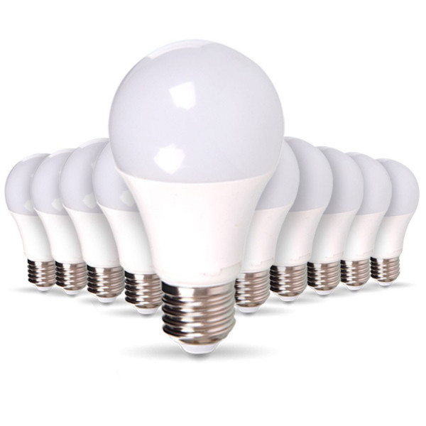 Lote de 10 bombillas LED E27 9W eq 60W 806lm blanco natural
