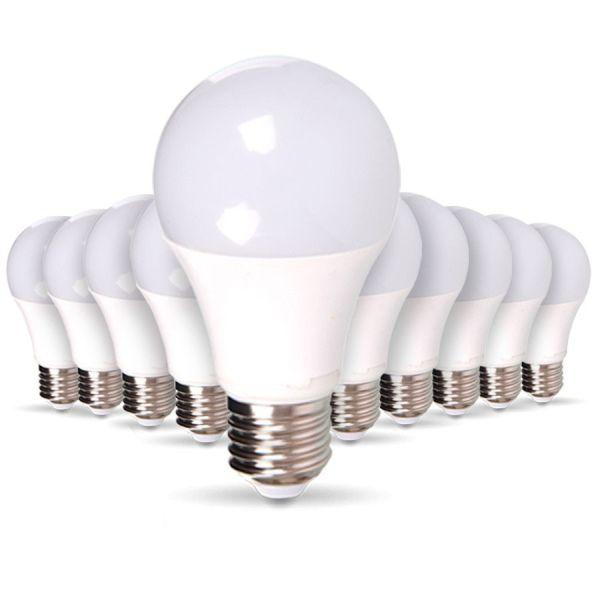 Lotto di 10 lampadine a LED E27 9W eq 60W 806m bianco caldo