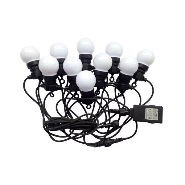 Guirlande guinguette 10 Ampoules Blanc Chaud