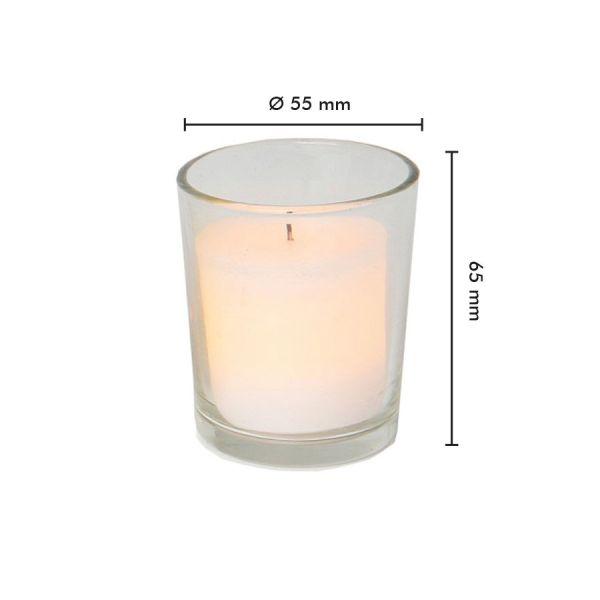 2 candele a LED in cera bianca