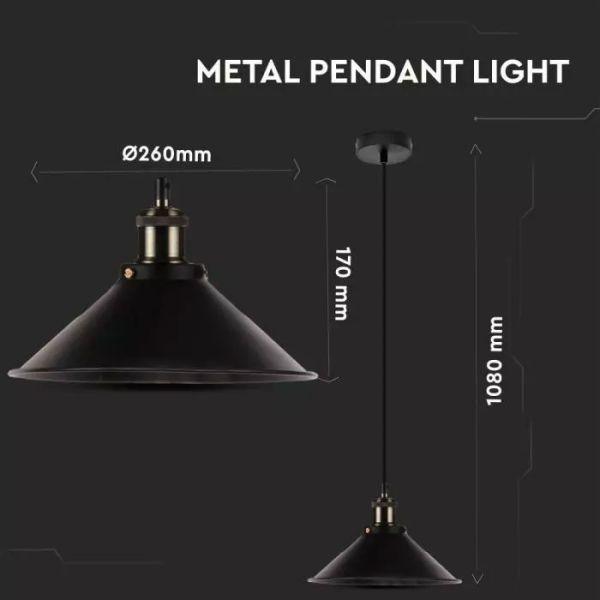 Suspension métal noir Style industriel