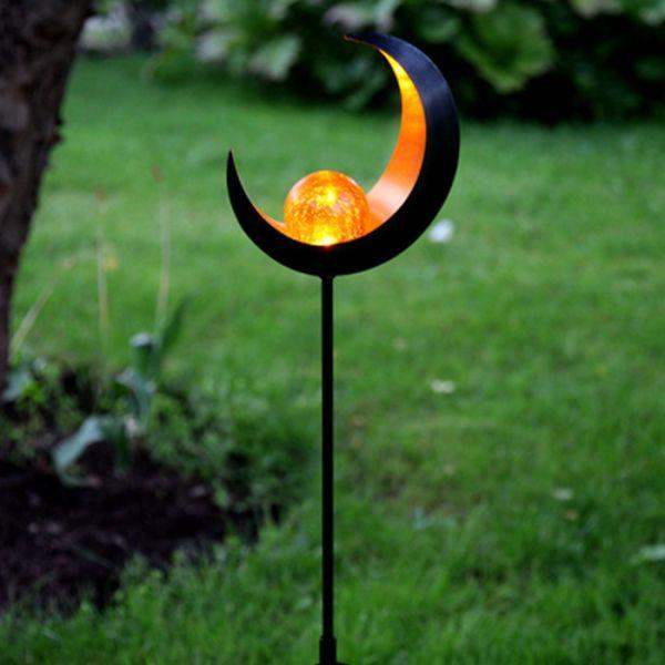 Décoration solaire pour jardin forme  Lune