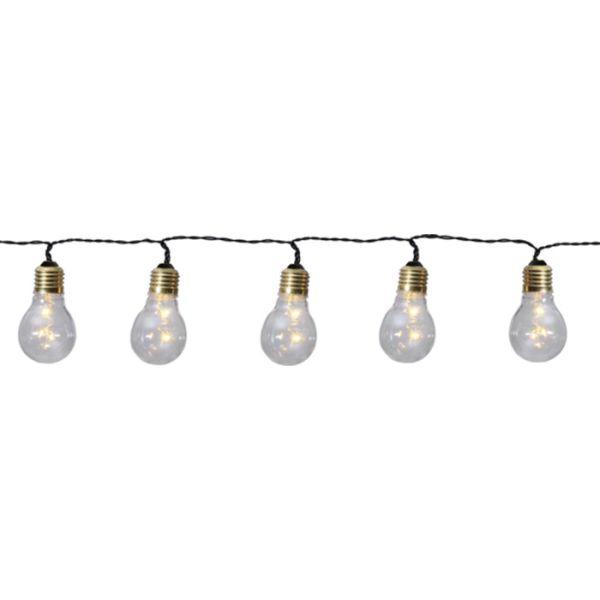 Guirlandes 5 ampoules déco sur piles
