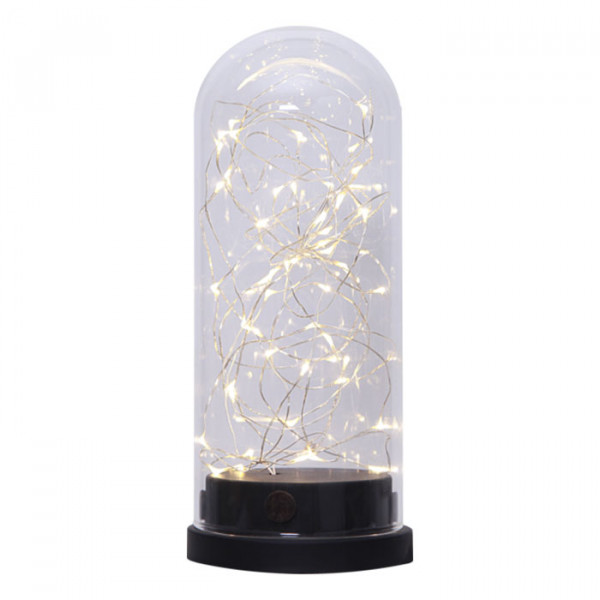 Lampe GLASS DOME micro LED sur piles