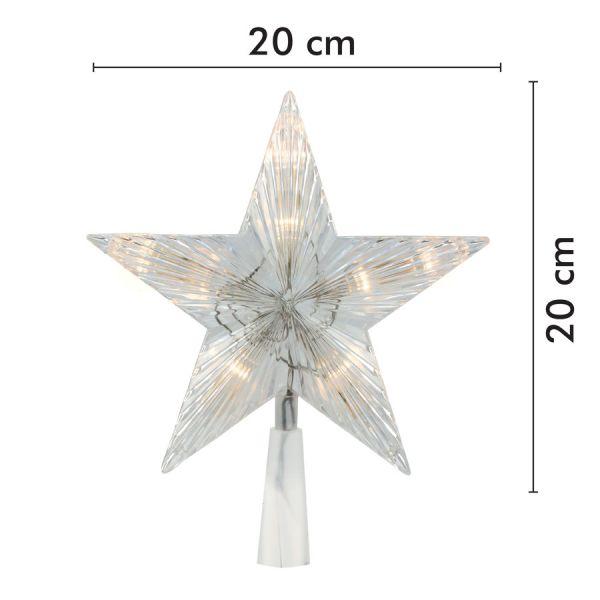 Estrella cresta LED animado blanco cálido