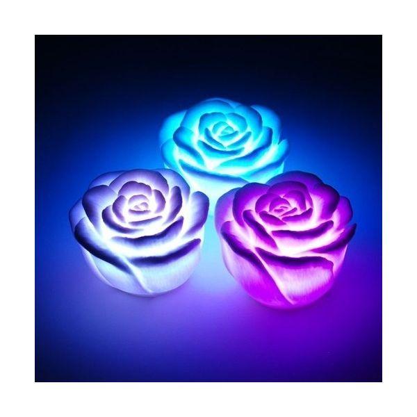 Lot de 3 Roses lumineuses RGB