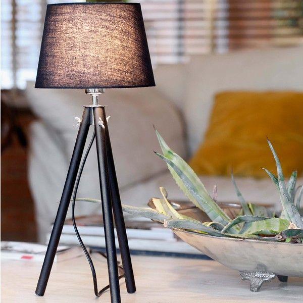 Lampada da tavolo nera DIX