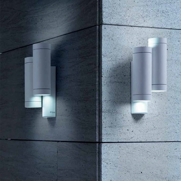 STEPS Lámpara de pared doble blanca GU10