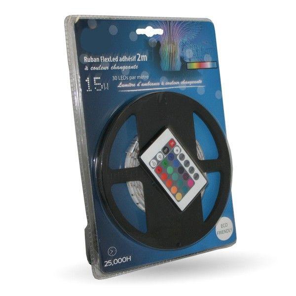 Pack ruban led flexled 2m changement de couleurs
