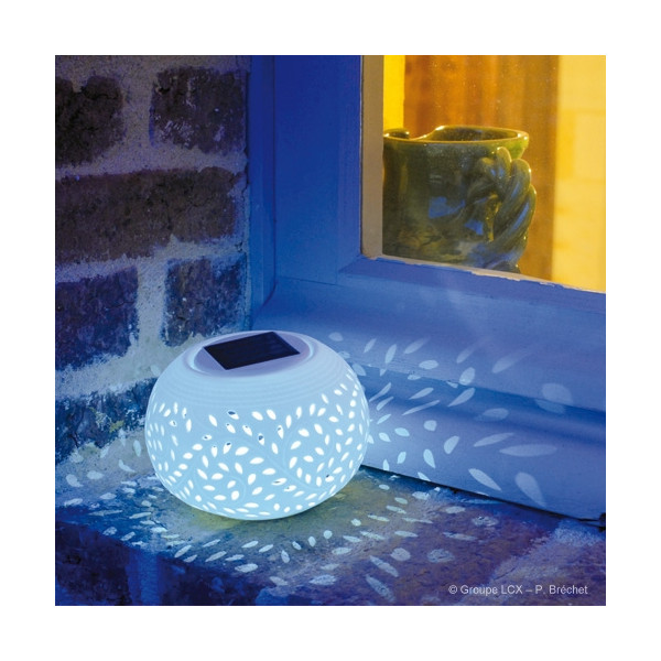Lampe GAOLING solaire mode couleurs ou blanc