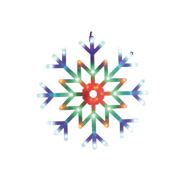 Flocon multicolore animée