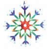 Fiocco di neve multicolore animato