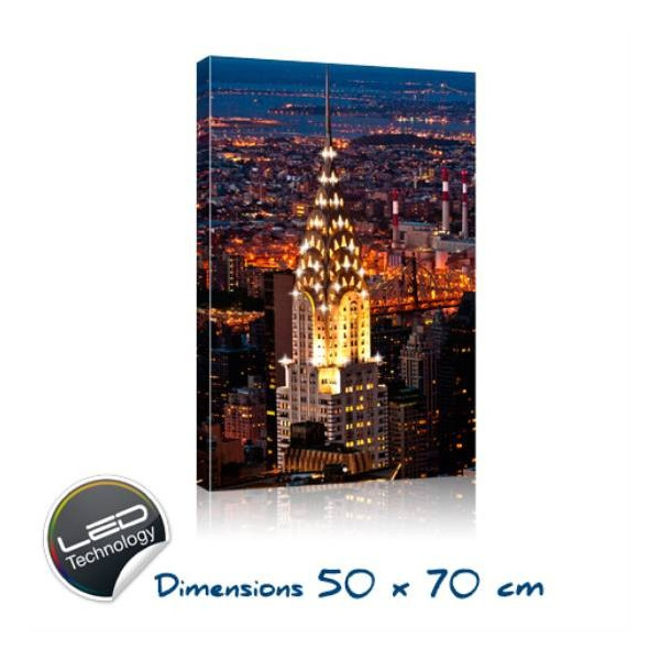 Tableau lumineux led new york crystal tower - Cadre lumineux new york ...
