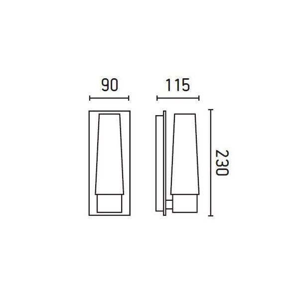 DOKA-1 Lampe applique chrome