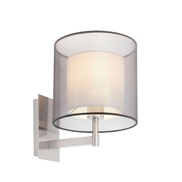 SABA Lampada da parete in nichel opaco