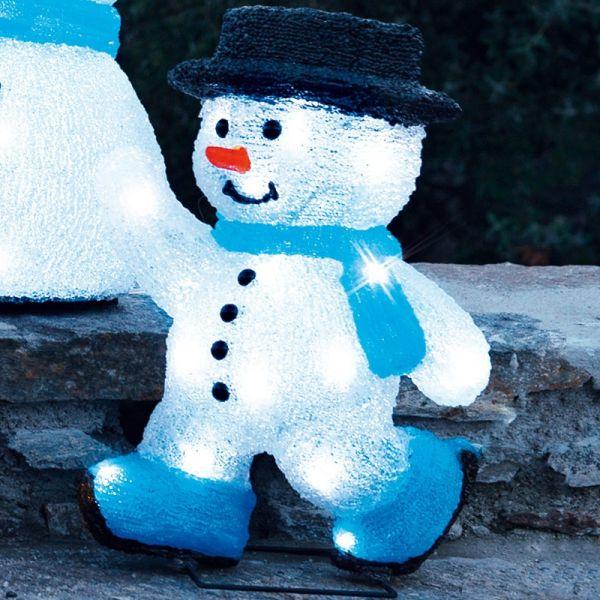 Bonhomme de neige patineur acrylique 3D
