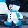 Pupazzo di neve pattinatore acrilico 3D