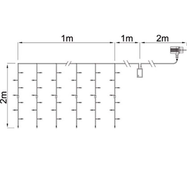 Sfarfallio 2mx2m collegabile bianco puro