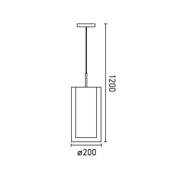 SABA Lampada a sospensione in nichel opaco 1L