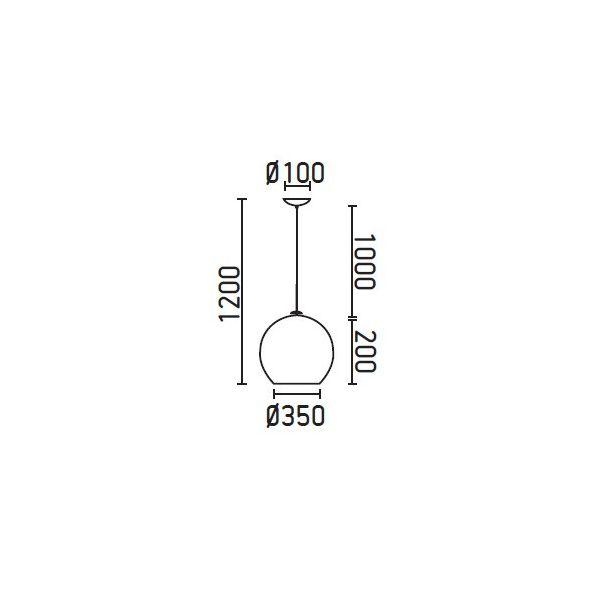 MALI Lampada a sospensione bianca 1200 mm