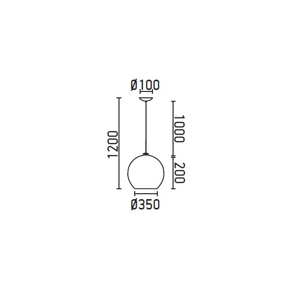 MALI Lampe suspension blanc 1200 mm