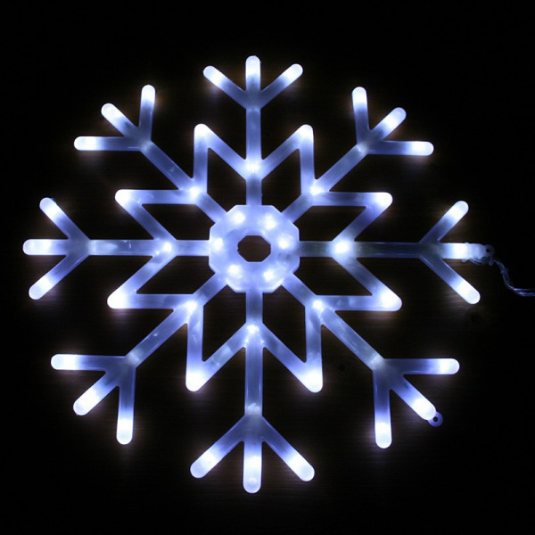 Flocon led blanc animée 40cm extérieur , Eclairage Design
