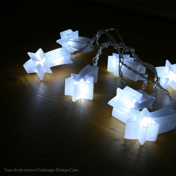 Cometa holográfico de guirnalda decorativa